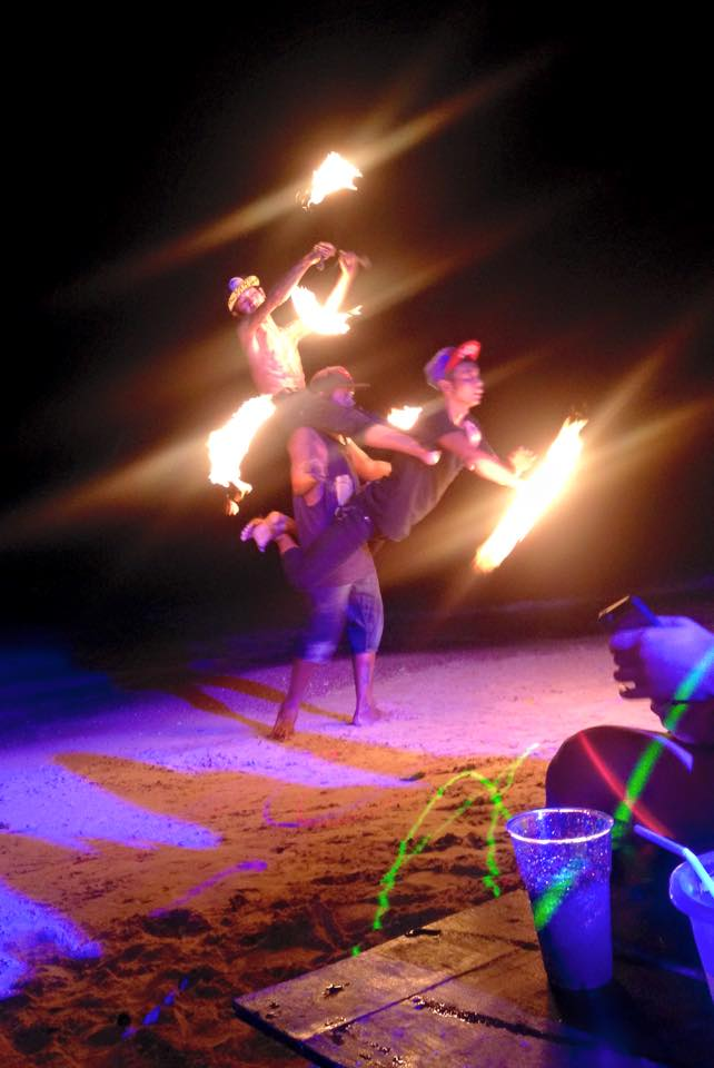 beach party fire