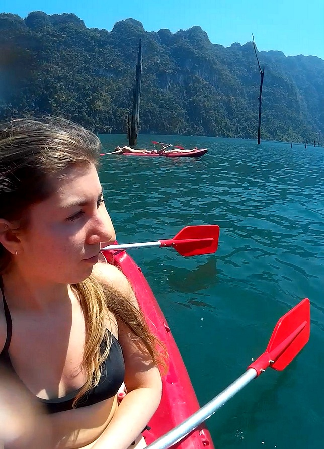 Lake Kyak Selfie