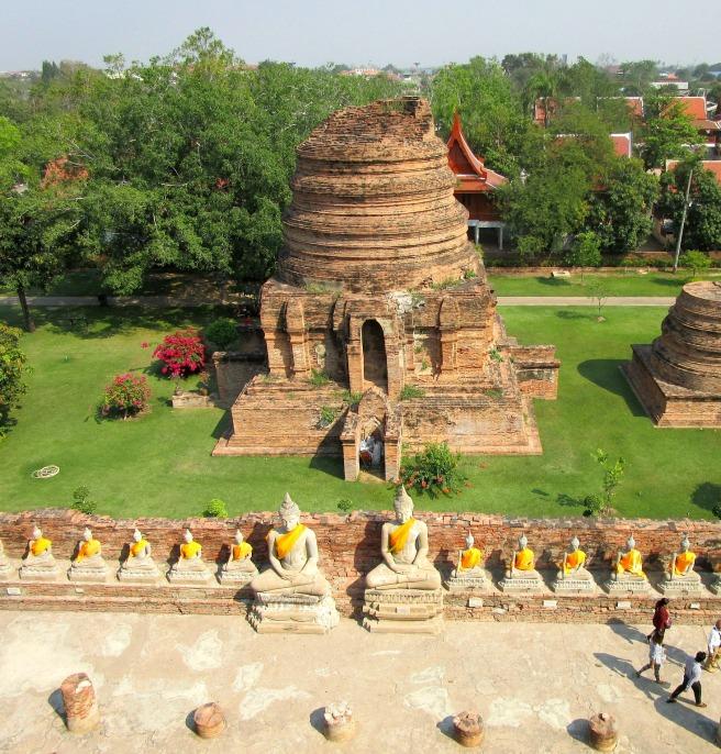 Ayutthaya Buddha line