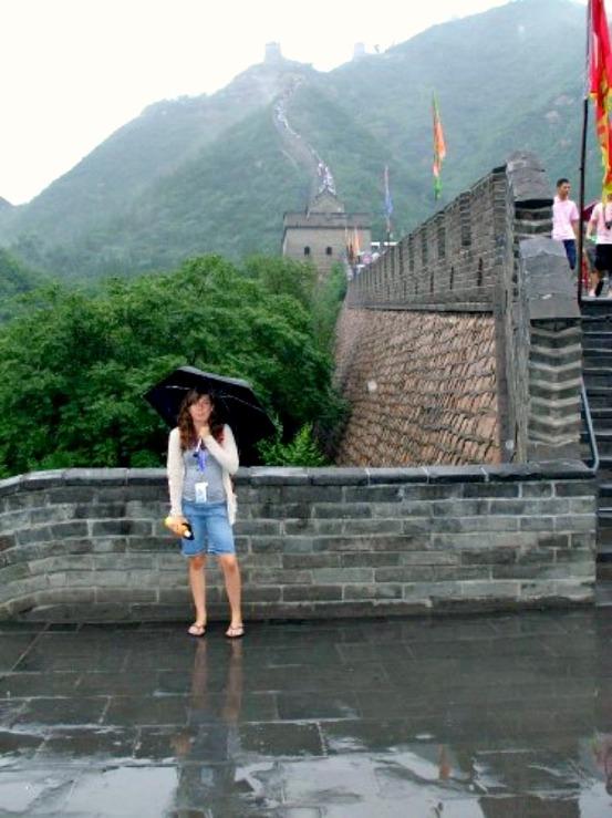 china me at great wall