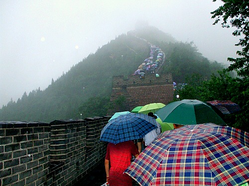 china umbrellas at great wal