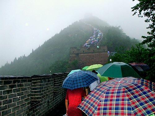 china umbrellas at great wal
