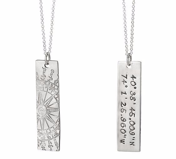 coordinates necklace