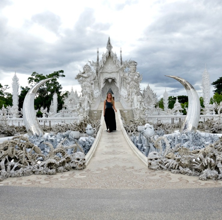 white temple front